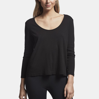 James Perse Ribbed Scoop Neck Tee