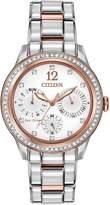 Citizen Eco-Drive Silhouette Crystal Swarovski® Crystal-Set Bracelet Ladies Watch