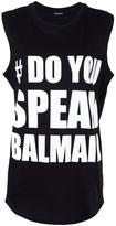 Balmain #DoYouSpeakBalmain tank top