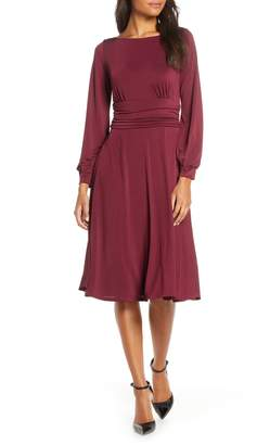 Harper Rose Ruched Waist Long Sleeve Jersey Dress