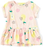 Joules Little Girls 3-6 Peplum Pear-Print Short-Sleeve Tee