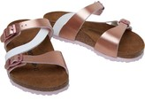 Birkenstock Girls Salina Birko-flor Regular Fit Sandals Soft Metallics Rose White