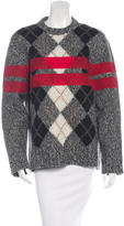 Givenchy Wool Argyle Sweater