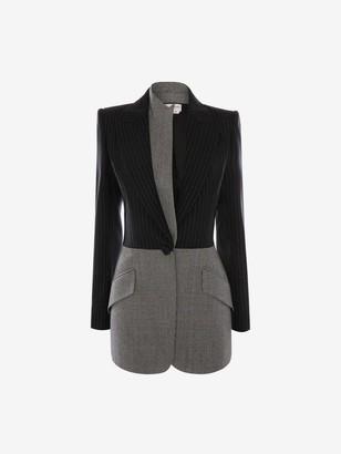 Alexander McQueen Patchwork Wool Jacket