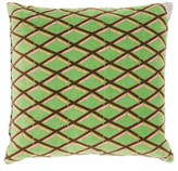 Preen by Thornton Bregazzi Diamond-print Mini Velvet Cushion - Green Print