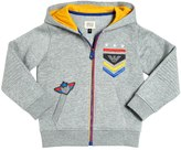 Armani Junior Embroidered Hooded Cotton Sweatshirt