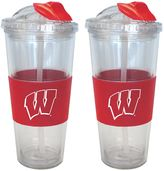 Wisconsin Badgers 2-pk. No-Spill Tumblers With Straws