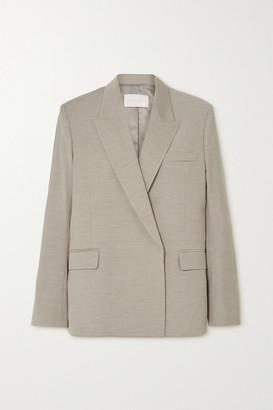 Low Classic Woven Blazer - Beige