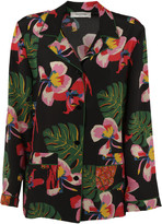 Valentino Tropical Print Pajama Top
