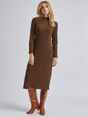 Dorothy Perkins High Neck Midi Dress - Brown