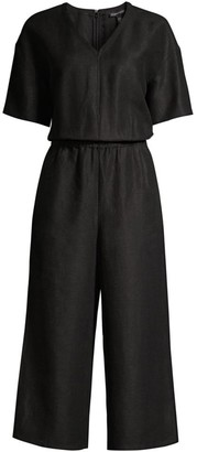 Eileen Fisher Short-Sleeve Culotte Jumpsuit