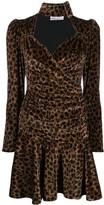 ATTICO The leopard print mini dress