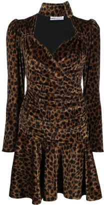ATTICO Leopard Print Mini Dress