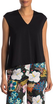 Rachel Roy Bina V-Neck Cap Sleeve Swing Top