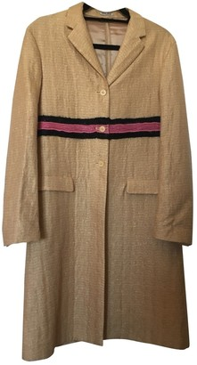 Miu Miu Gold Silk Coat for Women