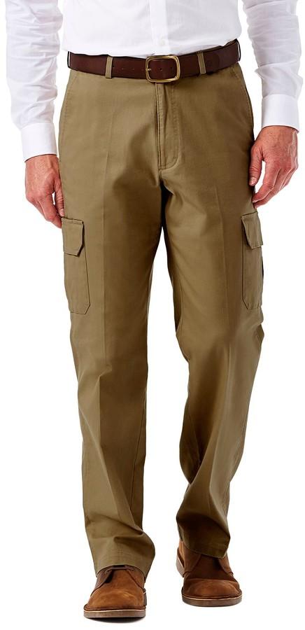 f270cf6e Haggar Brown Men's Big And Tall Pants - ShopStyle
