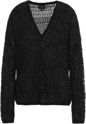 Giambattista Valli Wool, Angora And Mohair-blend Tinsel Sweater