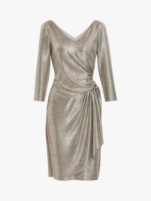 Gina Bacconi Daya Metallic Jersey Dress