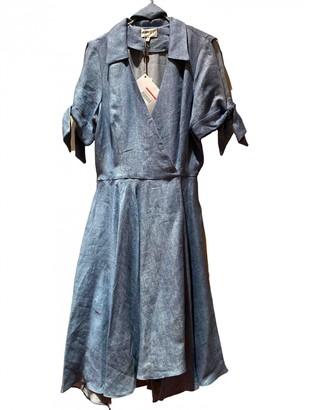 Milly Blue Linen Dress for Women