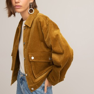 La Redoute Collections Corduroy Cropped Boyfriend Jacket