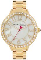 Betsey Johnson Women&s Goldie Crystal Bracelet Watch