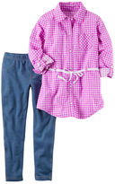 Carter's 2-Piece GIngham Tunic & Jegging Set