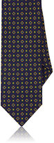 Drakes Drake's Men's Medallion Print Silk Necktie-PURPLE