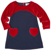 Florence Eiseman Ponte & Velvet Dress w/ Heart Pockets, Size 4-6X