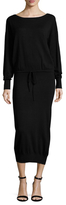 Tracy Reese Solid Drawstring Blouson Dress