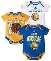 adidas Baby Golden State Warriors 3-Pack Three Point Bodysuit Set
