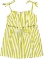 Marni Junior Striped Cotton Sateen Top