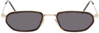 Christian Dior Gold DiorShock Sunglasses