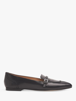 LK Bennett Polliana Pointed Flat Leather Pumps