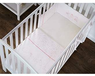 O Baby Obaby Hello Little One Cot/Cot Bed Quilt/Bumper Set (Pink)