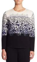 Stizzoli, Plus Size Printed Floral Sweater