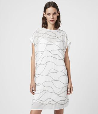 AllSaints Loran Embellished Dress