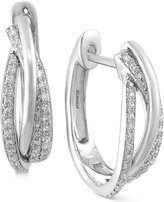 Effy Pavé Classica by Diamond Hoop Earrings (3/8 ct. t.w.) in 14k White, Yellow or Rose Gold