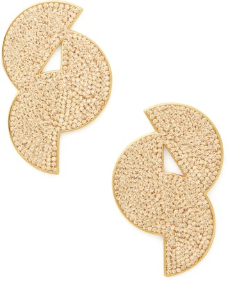 Kate Spade Mod Scallop Pave Statement Stud Earrings