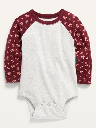 Old Navy Color-Blocked Raglan-Sleeve Bodysuit for Baby