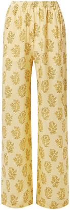 Acne Studios Pernelle Floral-print Cupro-twill Straight-leg Pants