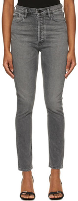 Gold Sign Grey The High-Rise Slim Jeans