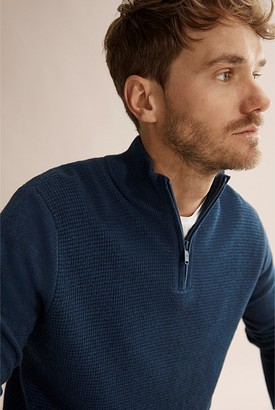 Country Road Waffle Half Zip Knit