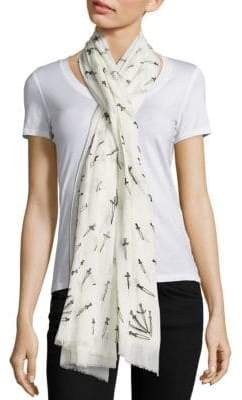 Rag & Bone Embroidered Dagger Cotton Scarf
