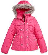 Jessica Simpson Faux-Fur Hooded Jacket, Little Girls (2-6X)