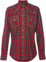Dolce & Gabbana studded Western checked shirt - men - Cotton/Polyurethane/Brass - 39