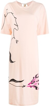 Marni floral-print T-shirt dress