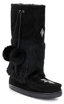 Manitobah Mukluks Fur Snowy Owl Pom Pom Cold-Weather Boots