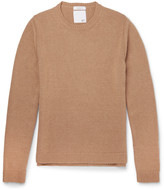 Valentino - Slim-fit Studded Camel Hair Sweater