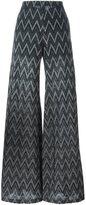 M Missoni zigzag pattern trousers