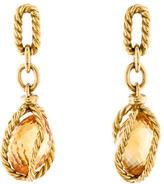 David Yurman 18K Citrine Drop Earrings